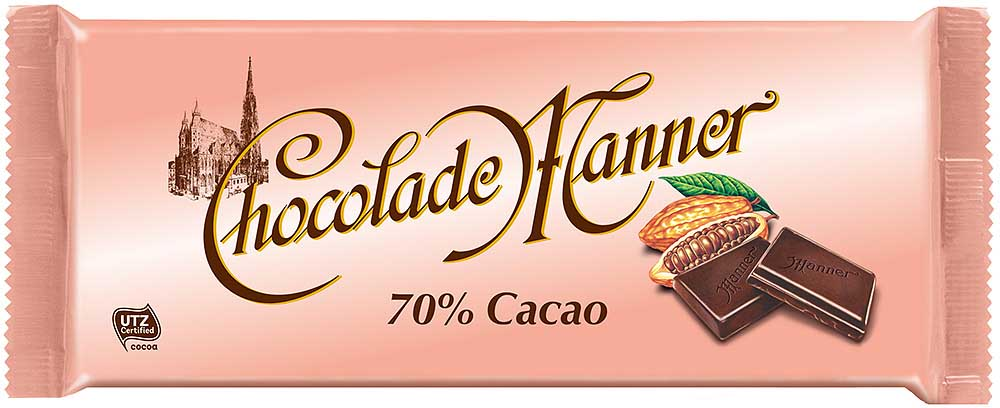Manner 70% Cacao Tafel