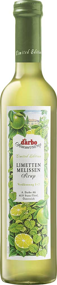Darbo Limette-Melisse Sirup Limited Edition